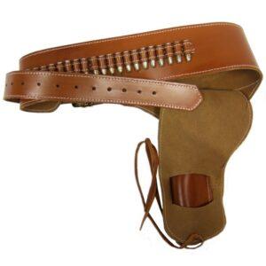 Ceinturon Sheriff en cuir - Holster simple