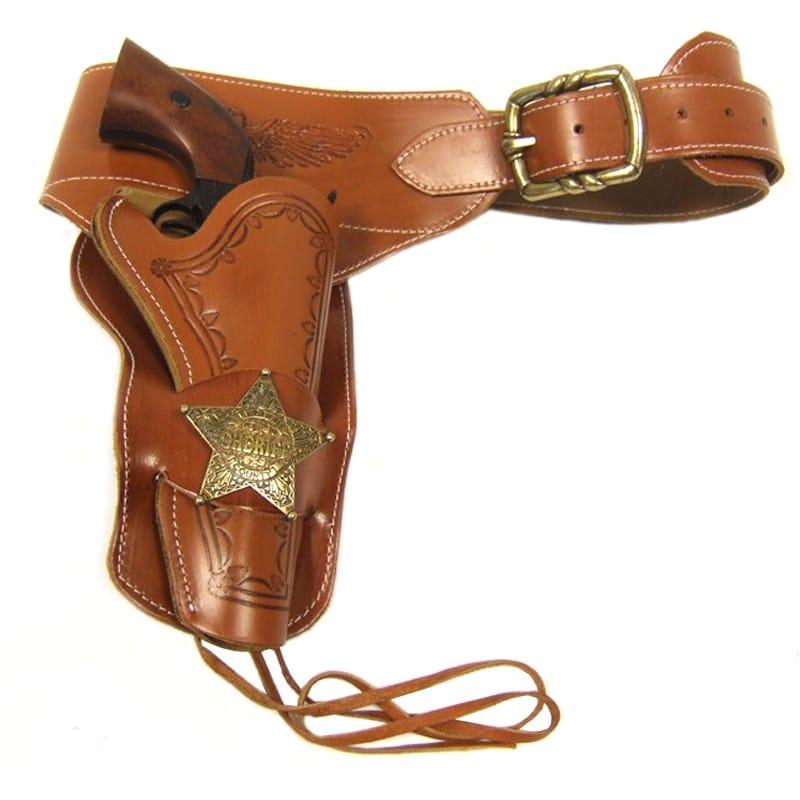 Ceinturon Sheriff avec insigne - Holster simple