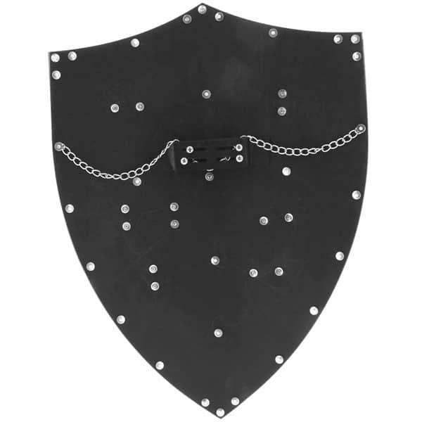 Bouclier Richard Coeur de Lion au dos chainette et poignée