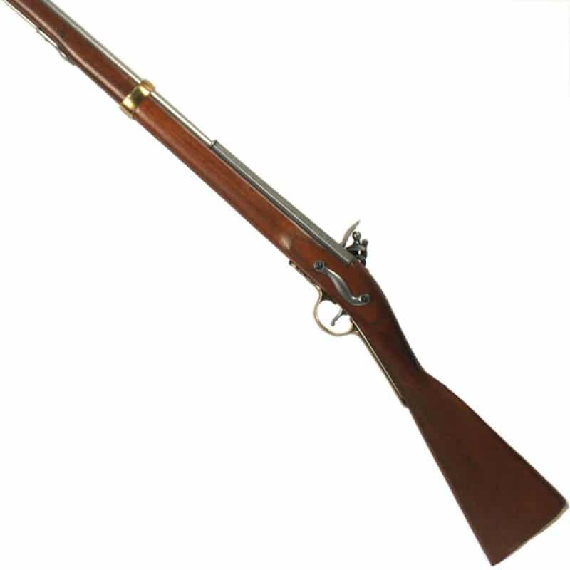 Fusil Mousqueton à baïonnette Brown Bess - Anglais 1722+crosse