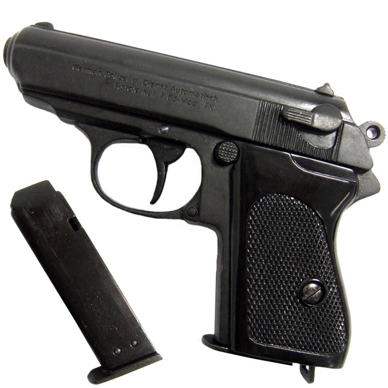 Pistolet Walther PPK - Calibre 7.65réplique avec son chargeur