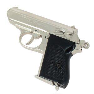 Réplique Pistolet Walther PPK - Calibre 7.65 nickelé