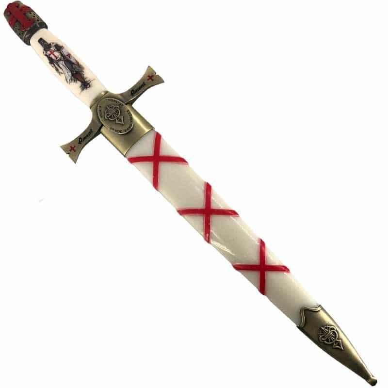 Dague Médiévale Templière blanche
